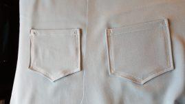 Pantalon safran-piqure poche arriere